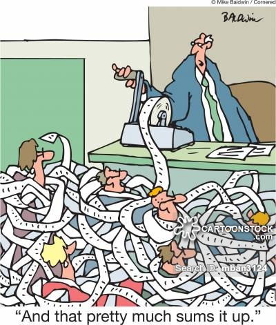 Cartoons and comics funny. Accounting clipart adding machine