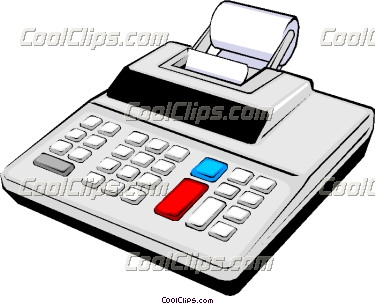 Vector clip art. Accounting clipart adding machine