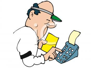 Accounting clipart adding machine. Bookie panda free images