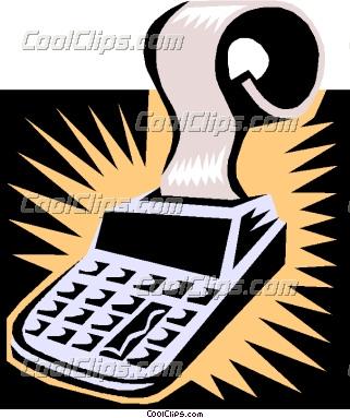 Accounting clipart adding machine. Calculator vector clip art
