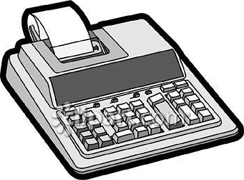 Com school edition demo. Accounting clipart adding machine