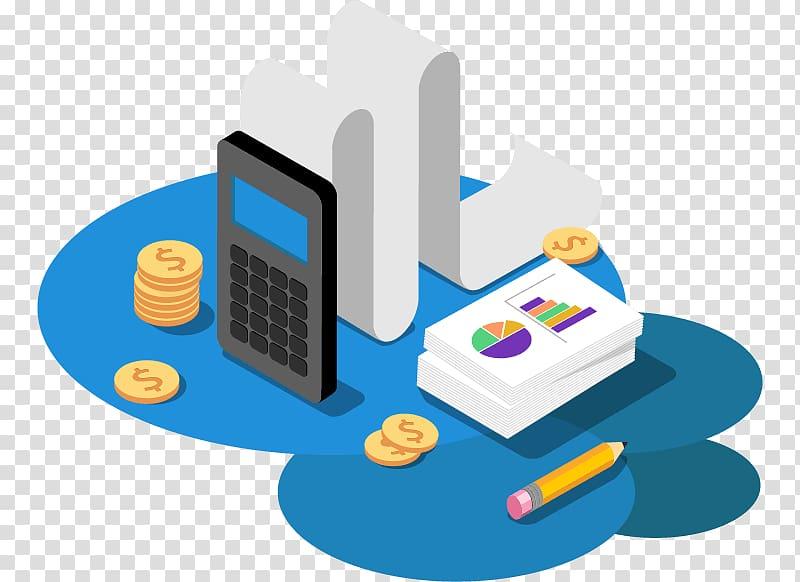 Calculator beside coin financial. Finance clipart accounting journal