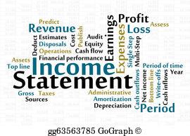 Financial statements clip art. Finance clipart gross income