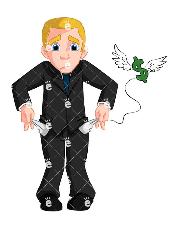 Accounting clipart male accountant. Business man with no