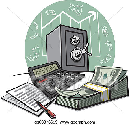 Eps illustration financial vector. Finance clipart accounting