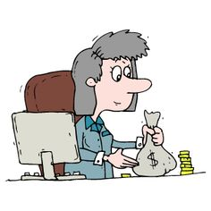 Accountant clipart female accountant. Iclipart royalty free image
