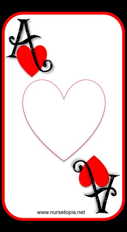 Card iology encouragement nursetopia. Ace of hearts png