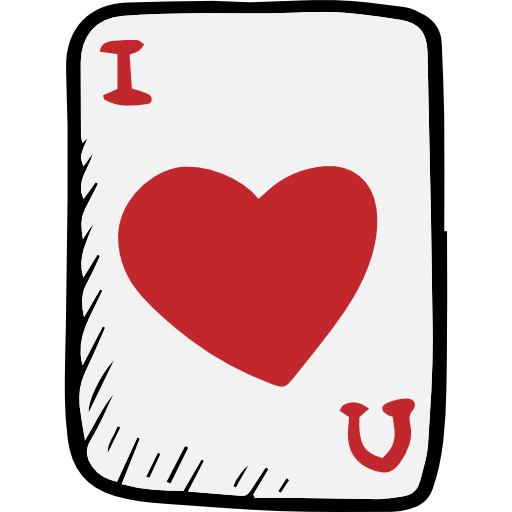 Icon svg . Ace of hearts png