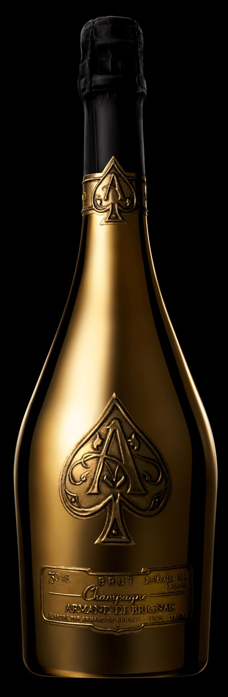 Brut gold armand de. Ace of spades bottle png