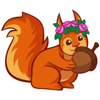 Acorn clipart animated. Squirrel png backgrounds and