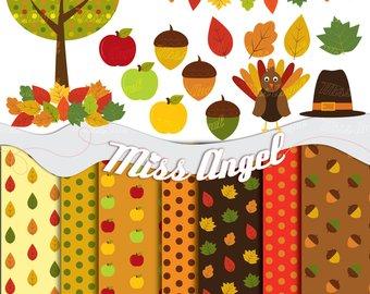 Fall etsy autumn digital. Acorn clipart banner
