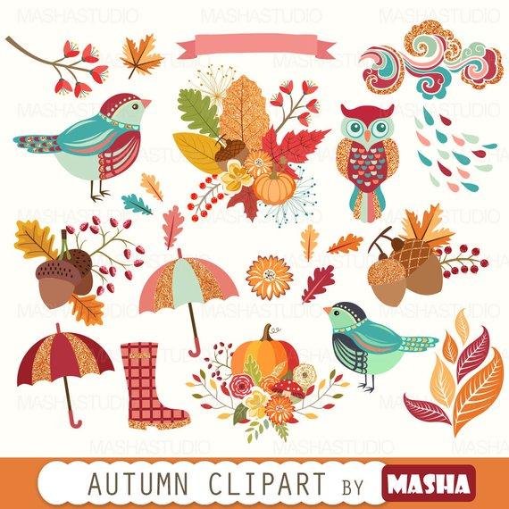 Fall autumn with clip. Acorn clipart banner