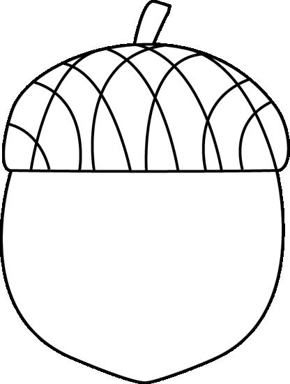Acorn clipart black and white. Clip art image