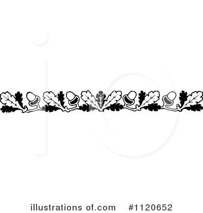 Acorn clipart border. Illustration by prawny vintage