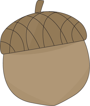 Clip art image. Acorn clipart brown
