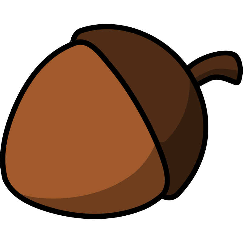 Free pictures download clip. Acorn clipart brown