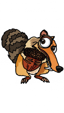 How to draw scrat. Acorn clipart ice age