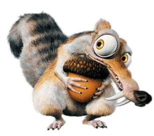 Louis with transparent png. Acorn clipart ice age