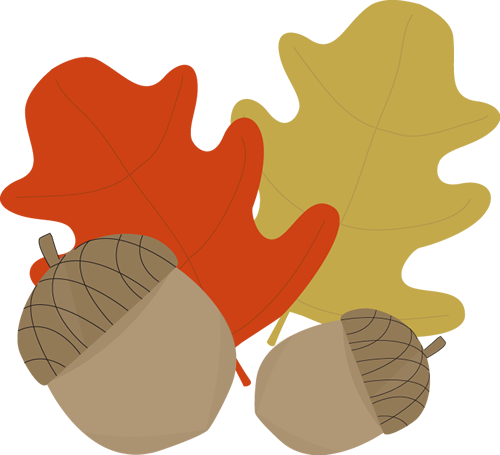 And leaves clip art. Acorn clipart leaf