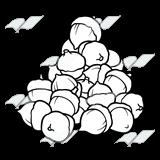 Abeka clip art . Acorn clipart pile
