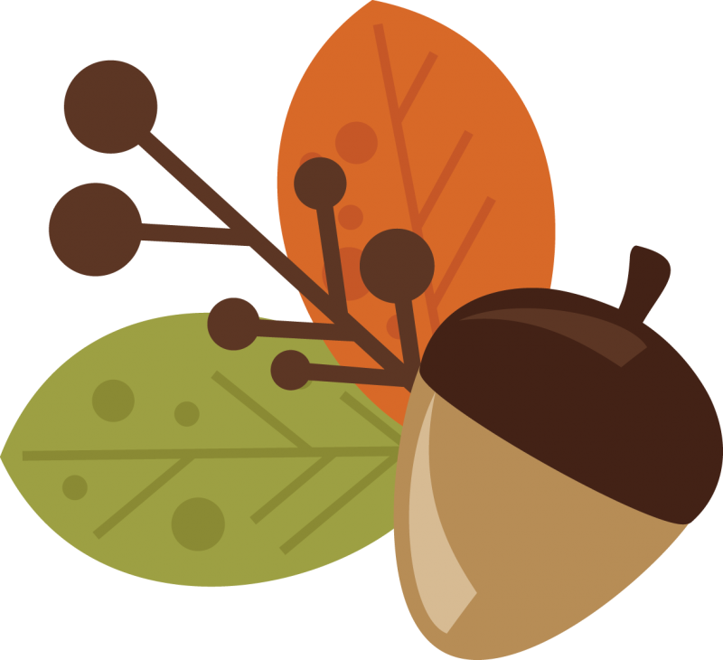 Acorn and free svg. Outdoors clipart cute fall leaves