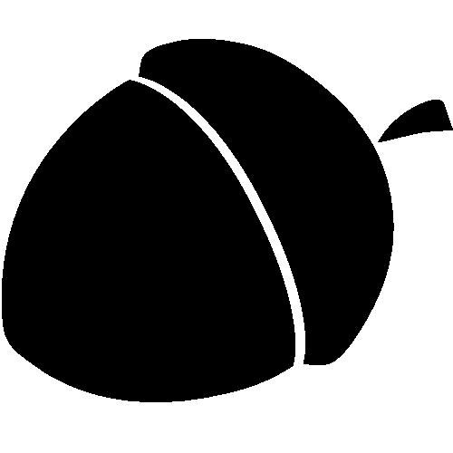 acorn clipart silhouette