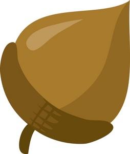 Acorn clipart single. Cartoon acorns and pecans