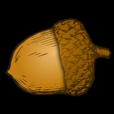 Transparent png stickpng illustration. Acorn clipart single