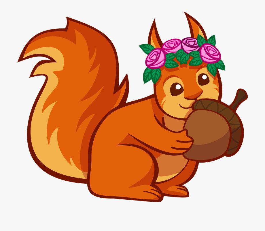Clipart squirrel acorn. Clip art with
