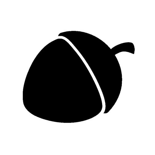Acorn clipart svg. Free file download leaf