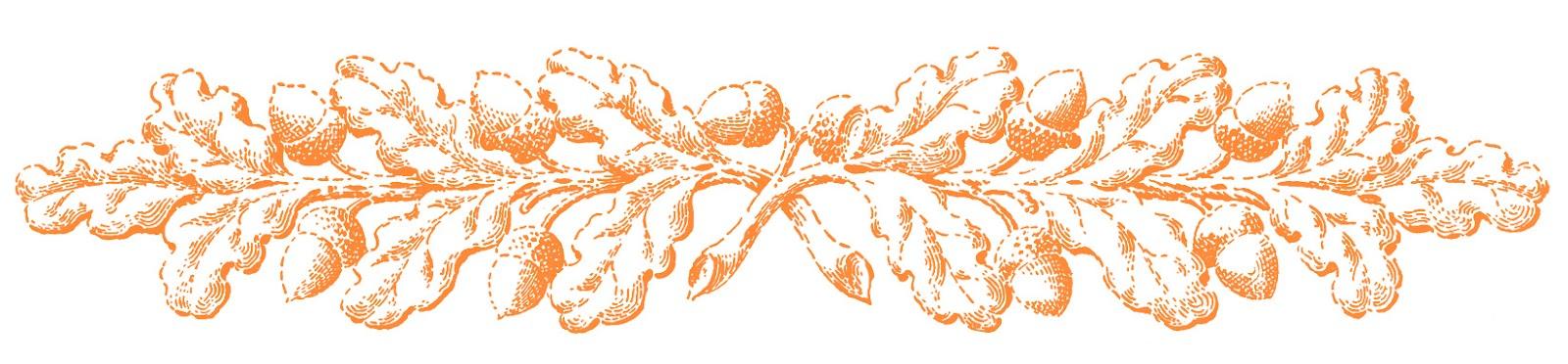 Fall clip art ornamental. Acorn clipart vintage
