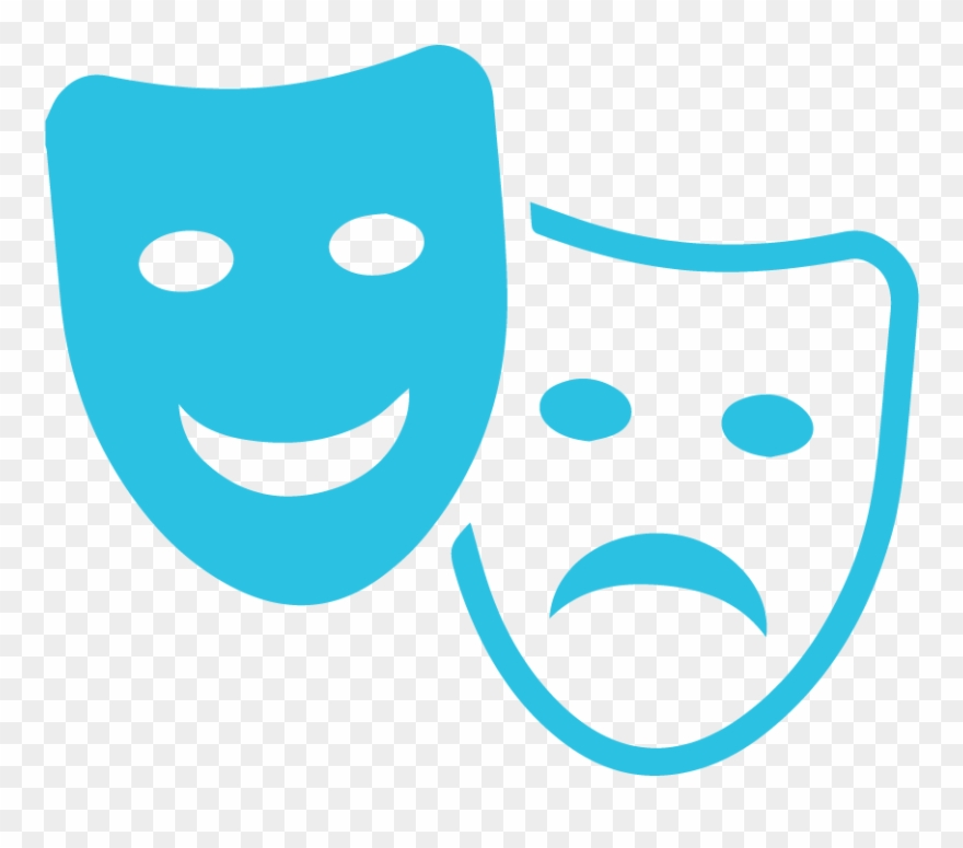 Acting clipart. Entertainment masks pinclipart
