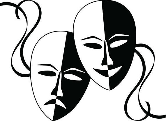 Acting clipart actor actress. Theater mask performance stage
