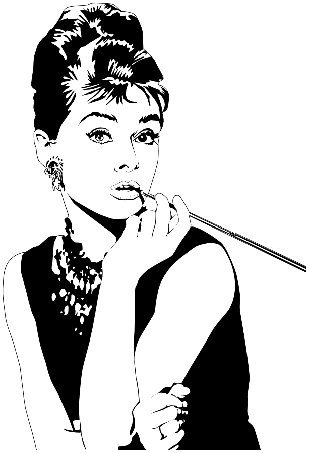 Acting clipart actor actress. Audrey hepburn famous entertainers