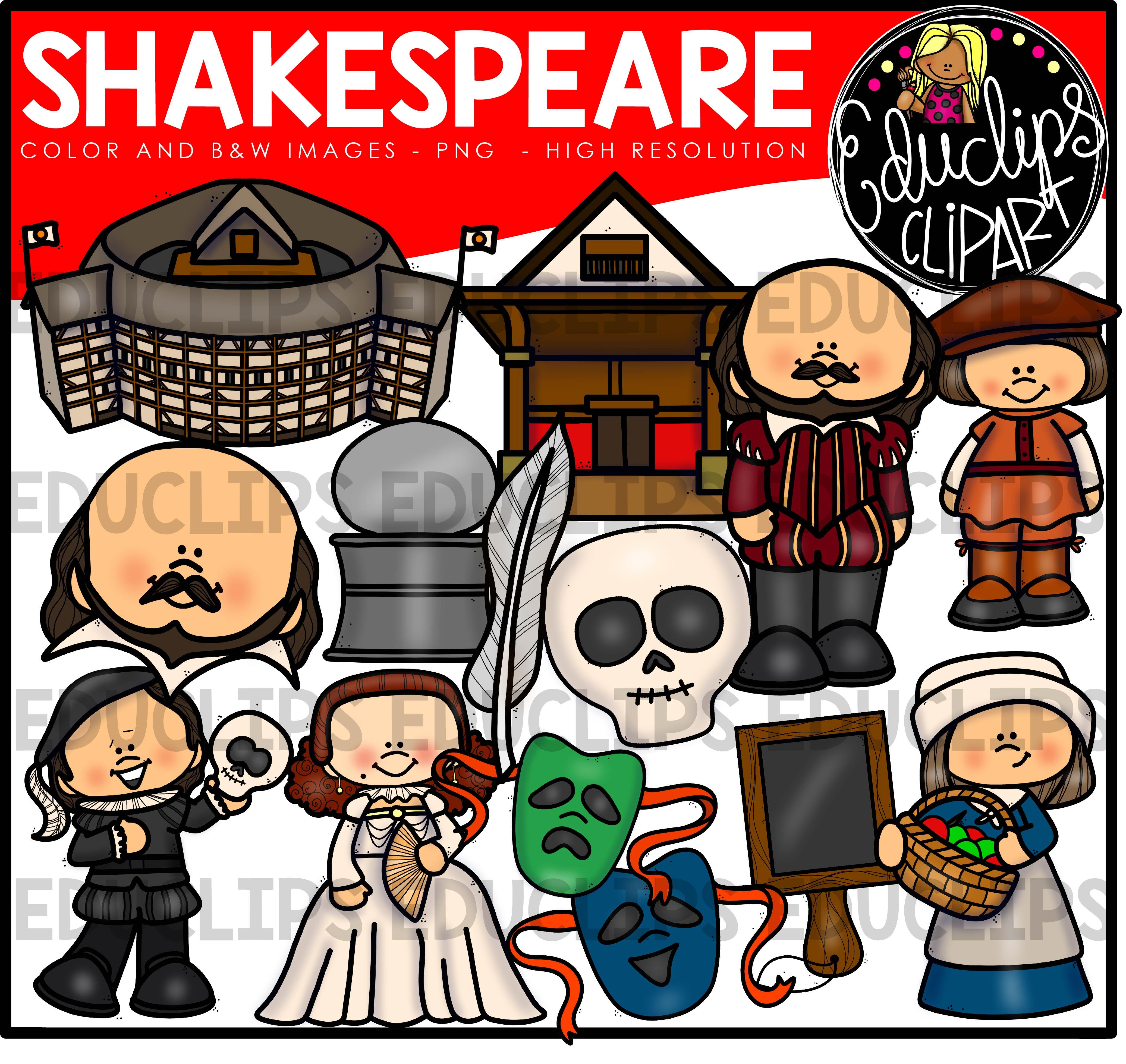 Acting clipart actor shakespeare. Clip art bundle color