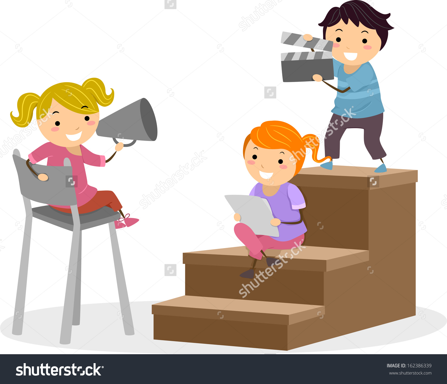 collection of script. Acting clipart animated