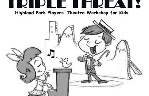 Highland park players triple. Acting clipart black and white