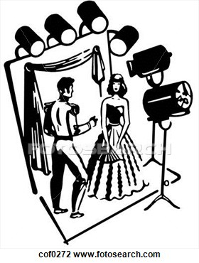 actor clipart black and white