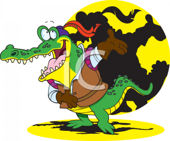 Actor clipart cartoon. Picture of a crocodile