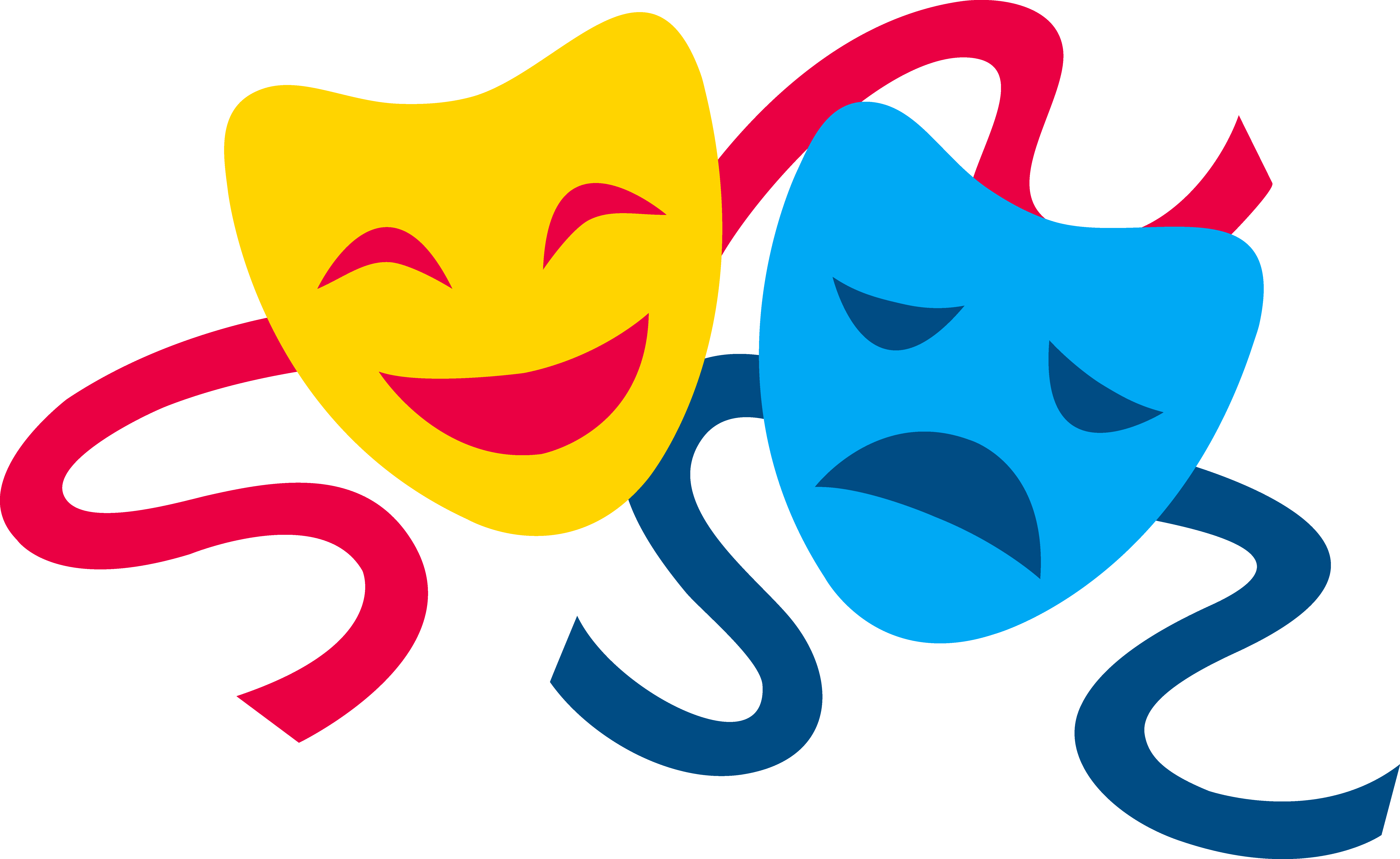 Clipart definition personal reflection. Comedy and tragedy masks