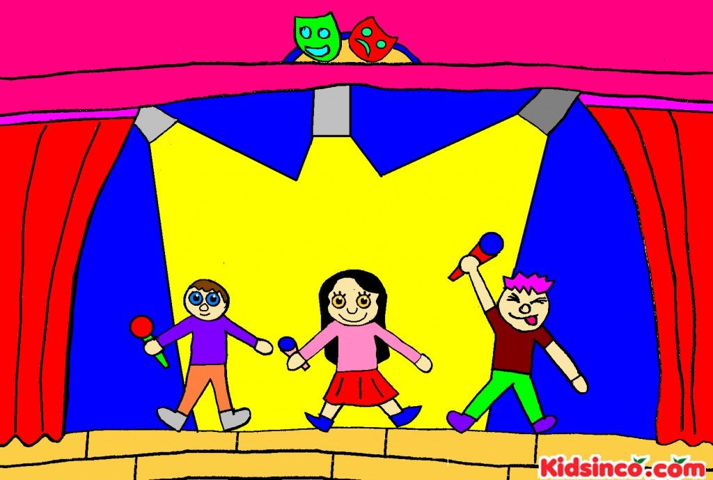 Theater kids classes singing. Acting clipart drama