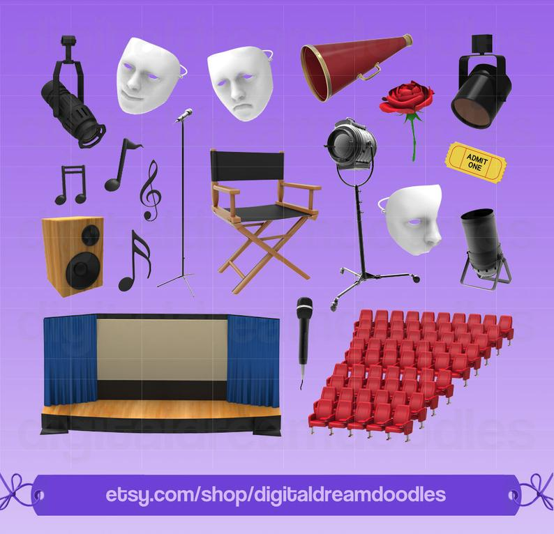 Stage play clip art. Acting clipart drama