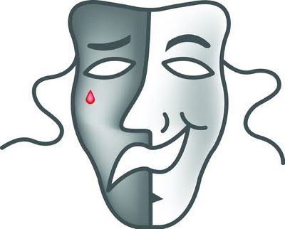 best drama masks. Acting clipart faced