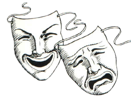 The story behind comedy. Acting clipart faced