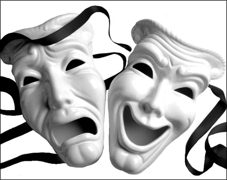 Acting clipart faced. Drama faces group greek