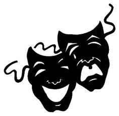 Actor clipart silhouette. Theater masks drawings best