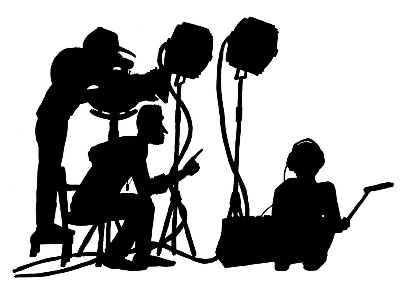 Acting camera clip art. Movie clipart film production