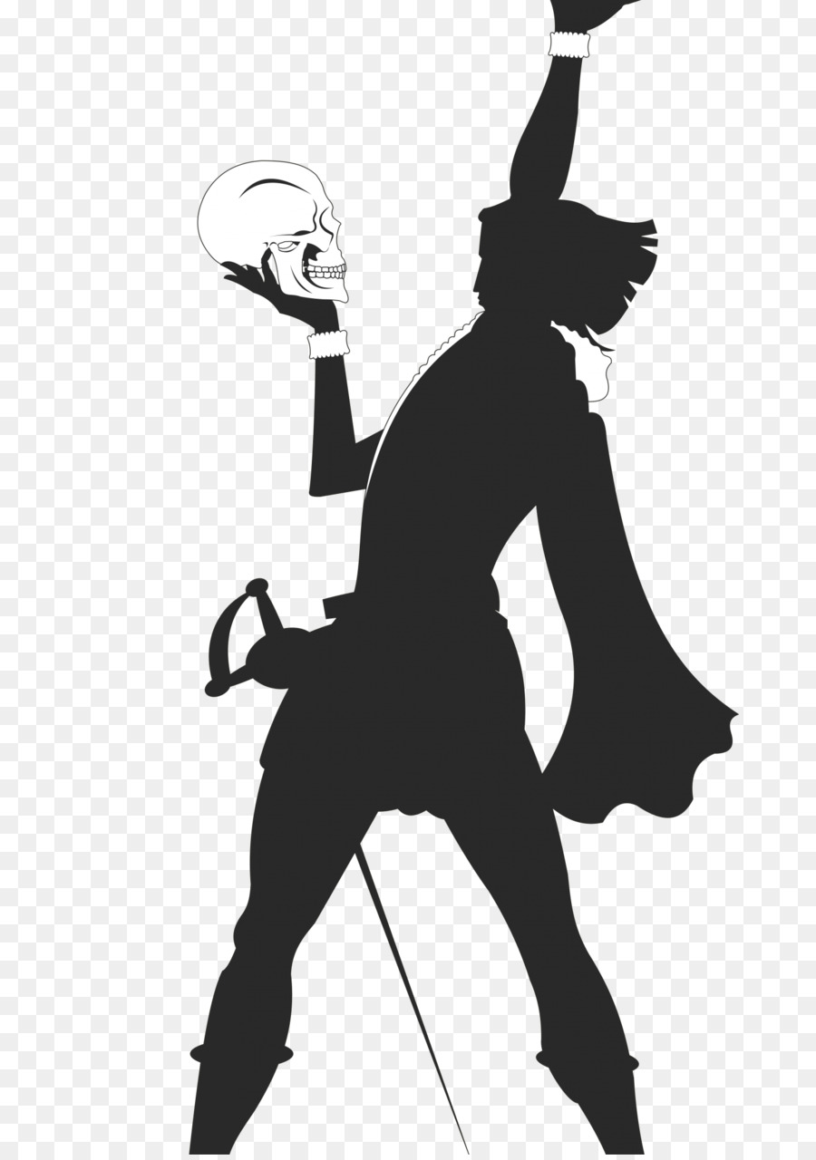 Hamlet royalty free playbill. Actor clipart silhouette