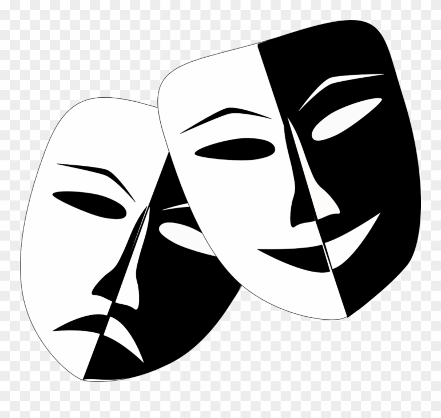 Comedy masks theatre pinclipart. Mask clipart drama