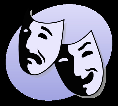 Acting clipart musical theater.  signs you were